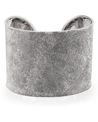 Carolina Bucci - Metallic Silver Florentine White Gold Cuff - Lyst