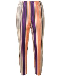 Pleats Please Issey Miyake - Striped Pleated Trousers - Lyst