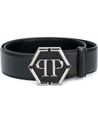 Philipp Plein Logo Plaque Belt