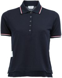 Thom Browne - Cropped Polo Shirt - Lyst