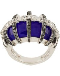 Stephen Webster - 18kt White Gold, Lapis Lazuli And Diamond Ring - Lyst