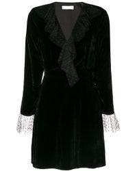 Blanchett Dame - Flared Velvet Mini Dress - Lyst