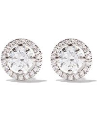 De Beers - 18kt White Gold My First Aura Diamond Stud Earrings - Lyst