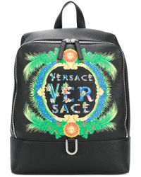 Versace | Beverly Palm Print Backpack | Lyst