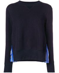 Sacai - Contrast Panel Sweater - Lyst