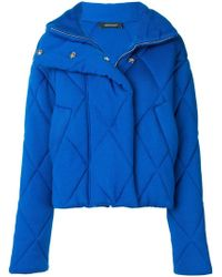 Cedric Charlier - Quilted Oversized Jacket - Lyst