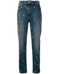 Étoile Isabel Marant - Star Embroidered Straight-leg Jeans - Lyst