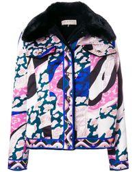 Emilio Pucci - Faux Fur Printed Jacket - Lyst