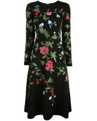 Oscar de la Renta - Vestido con bordado Botanical Garden - Lyst