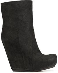 Rick Owens - Wedge Ankle Boots - Lyst