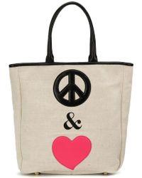 Boutique Moschino Peace & Love Tote Bag