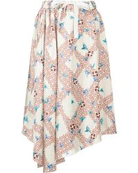 Astraet | Lattice Bird Print Skirt | Lyst