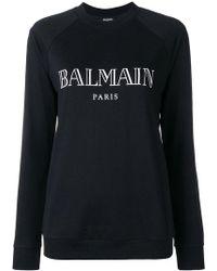 Balmain - Logo Print Sweatshirt - Lyst