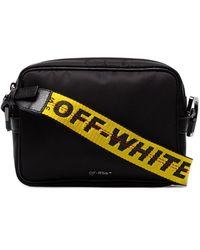 Off-White c/o Virgil Abloh Crossbodytas Met Logo - Zwart