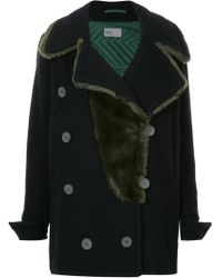Kolor - Oversize Double Breasted Coat - Lyst