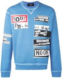 DSquared² - Faded Print Sweatshirt - Lyst