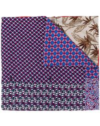 Pierre Louis Mascia - Contrast Printed Scarf - Lyst