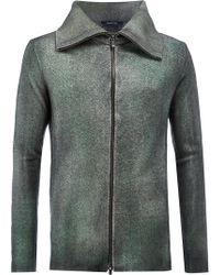 Avant Toi - Wing Collar Slim-fit Jacket - Lyst