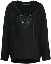 Barbara Bui - Lace Up Front Hoodie - Lyst