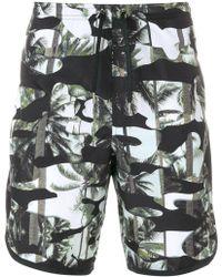Neil Barrett - Palm Camouflage Print Swim Shorts - Lyst