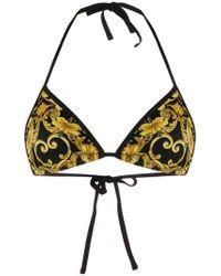 Versace - Top bikini con stampa barocca - Lyst