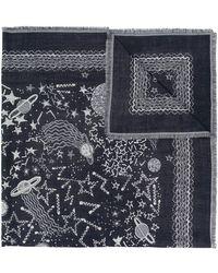Valentino - Galaxy Print Scarf - Lyst