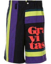 Kolor - Colour-block Striped Shorts - Lyst