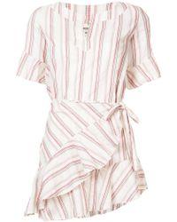 lemlem - Juni Flounce Wrap Dress - Lyst
