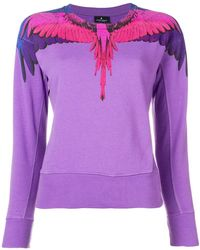 Marcelo Burlon - Bird Feathers Printed Sweater - Lyst