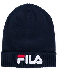 Fila - Ribbed Hem Logo Beanie - Lyst