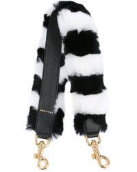 Dolce & Gabbana - Striped Fur Mini Bag Strap - Lyst