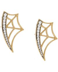 Eshvi | Diamond Web Earrings | Lyst