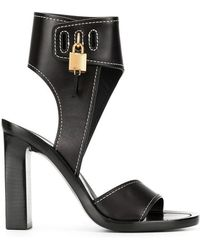 9d51870fee9f Lyst - Tom Ford New Lock Platform Sandals in Black