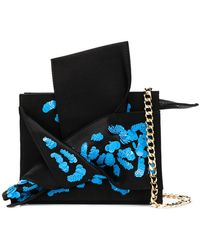N°21 - Sequinned Abstract Bow Mini Bag - Lyst