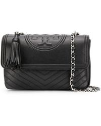 284a00748d26 Lyst - Tory Burch Fleming Stud Small Convertible Shoulder Bag in Black