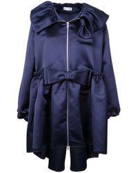 Dice Kayek - Bow Detailed Oversize Coat - Lyst