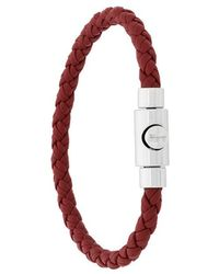 Ferragamo | Braided Press Clasp Bracelet | Lyst