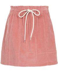 Bassike - Cord Skirt - Lyst