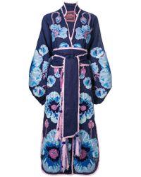 Yuliya Magdych - Poppies Print Kimono Dress - Lyst