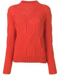 ODEEH - Long-sleeve Knitted Jumper - Lyst