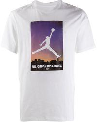 c6c65bbb84893d Lyst - Nike Air Jordan Jsw Print Tee  quai 54  in White for Men