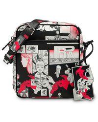 Prada - Cartoon Printed Shoulder Bag - Lyst