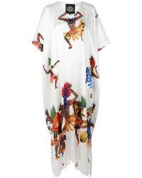 Katya Dobryakova - Shamans Print Dress - Lyst