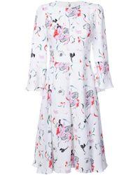 Prabal Gurung - Pleated Skirt Floral Dress - Lyst