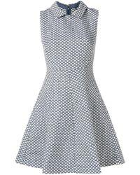 Emporio Armani - Flared Collar Dress - Lyst
