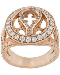 Loree Rodkin - 14kt Rose Gold And Diamond Round Quatrefoil Ring - Lyst