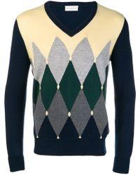 Ballantyne - Argyle Vneck Sweater - Lyst