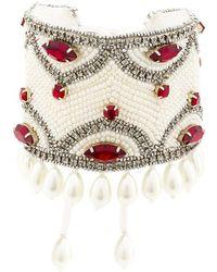 Etro - Crystal Pearl Embellished Bracelet - Lyst