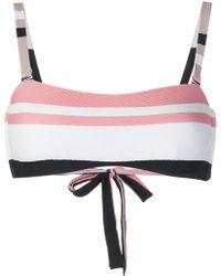 Beautiful Bottoms - Bold Stripe Wrap Bikini Bandeau - Lyst