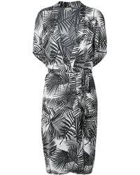Fleur du Mal - Palm Print Belted Robe - Lyst